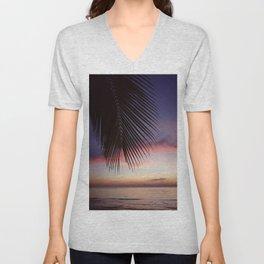 Paradise Palm Sunset Unisex V-Neck