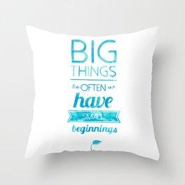 Big Things Throw Pillow