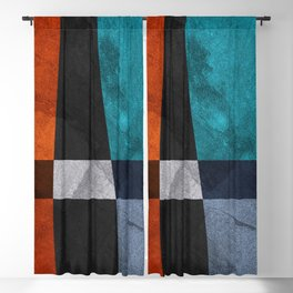 Abstract art geometric, minimalist, texture, colorful, marble, lines Blackout Curtain