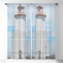 North Cape Lighthouse Sheer Curtain