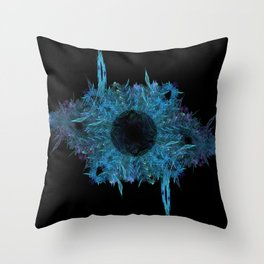 Blue eye - fractal Throw Pillow