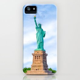Landmark Statue Of Liberty On The Waters Of New York Harbor iPhone Case
