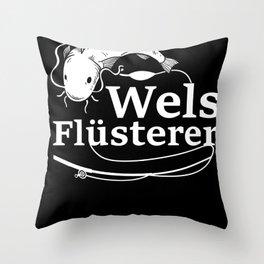 Fisherman Funny Catfish Whisperer Fishing Gift Throw Pillow