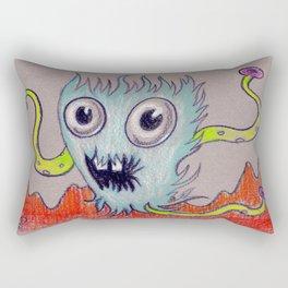 aqua fur-ocious Rectangular Pillow
