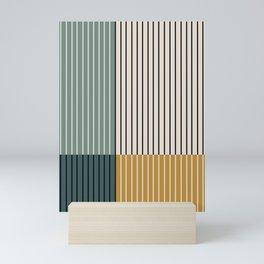 Color Block Line Abstract VIII Mini Art Print