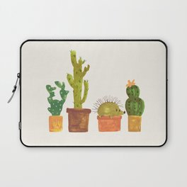 Hedgehog and Cactus (incognito) Laptop Sleeve