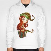 elf Hoodies featuring Elfie Elf by Sandra Vargas