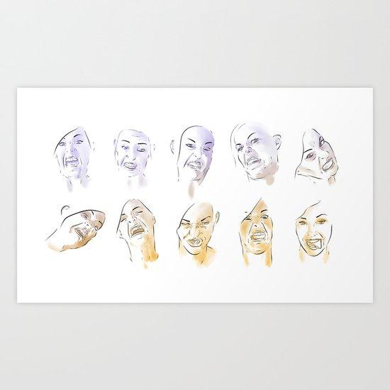 Dodger Faces Art Print