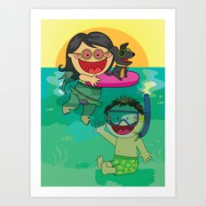 Beach Day! Art Print