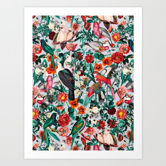 FLORAL AND BIRDS XIV Kunstdrucke
