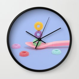 Balanced breakfast Wall Clock