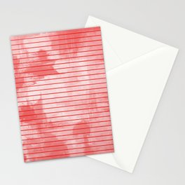 Seeing Red - Textured, geometric red Stationery Cards