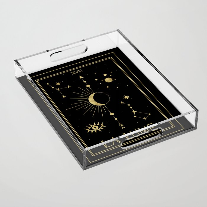 The Moon or La Lune Gold Edition Acrylic Tray