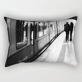 S-Bahn Berlin black and white photo Rectangular Pillow