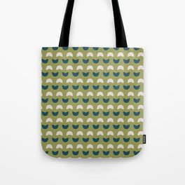 Abstract / Organic Surface Pattern (blue-green small) Tote Bag