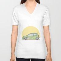 volkswagen V-neck T-shirts featuring Volkswagen Lupo vector illustration by Underground Worm