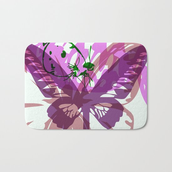 Abstract Butterflies 03 Bath Mat