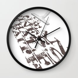 cleanliness is half of faith Wall Clock