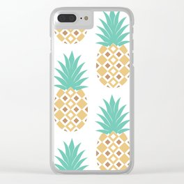 Pineapple Crush Clear iPhone Case