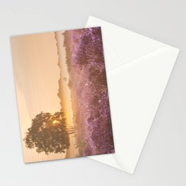 I - Fog over blooming heather near Hilversum, The Netherlands at sunrise Stationery Cards