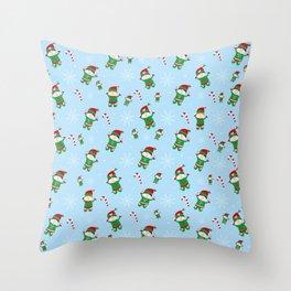 Xmas Elves Throw Pillow