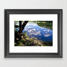 Summer Sky is touching water ground Framed Art Print