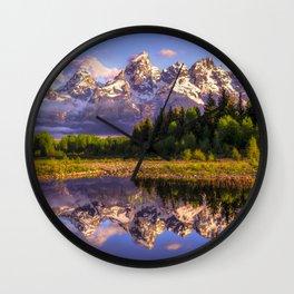 Grand Teton National Park Wall Clock