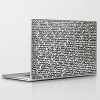 word Laptop & iPad Skins featuring Word by Abstractink82