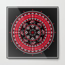 Bear Spirit (Red) Metal Print
