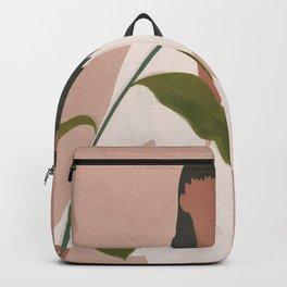 Elegant Lady holding a Flower Backpack