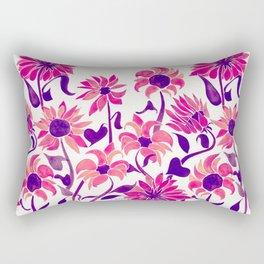 Sunflower Watercolor – Pink & Purple Palette Rectangular Pillow