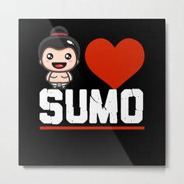 I Love Sumo Metal Print