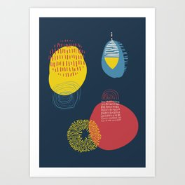 Colour and pattern - Abstract 1 Art Print