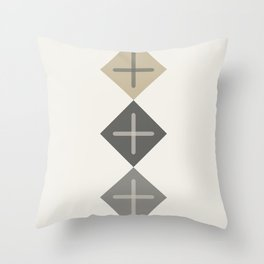Cross Stitch Neutral Throw Pillow