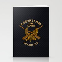 quidditch Stationery Cards featuring Ravenclaw quidditch team iPhone 4 4s 5 5c, ipod, ipad, pillow case, tshirt and mugs by Three Second