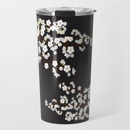 Japanese Sakura Cherry Blossoms (black) Travel Mug