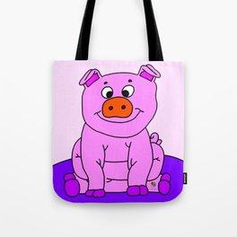 Wide-eyed Piggy Tote Bag