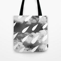 Storm Clouds + Droplets Tote Bag