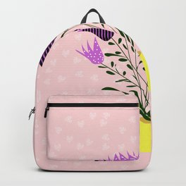 bluebells in a yellow vase Backpack