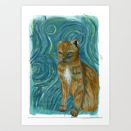 Vincent van Kitty Art Print