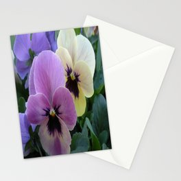 Pretty Pansies Stationery Cards