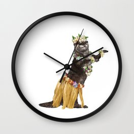 Otter the Hawaiian Dancer Wall Clock