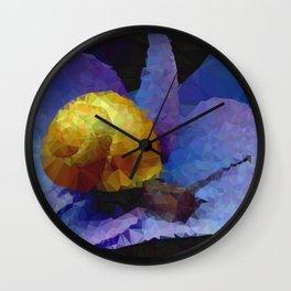 Geometric Snail On Flower Wall Clock