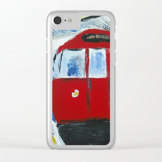 London Underground Acrylic On Canvas Board Fine Art Clear iPhone Case