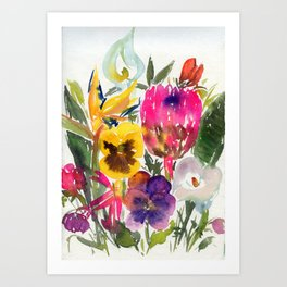 exotic flowers and more Art Print