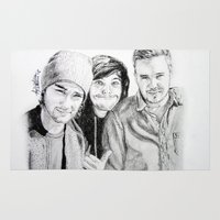 liam payne Area & Throw Rugs featuring Zayn Louis and Liam (Zouiam) by Drawpassionn