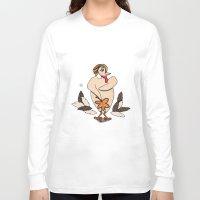 turkey Long Sleeve T-shirts featuring Sexy Turkey by Yatasi