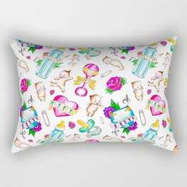 Baby Flash Tattoo Rectangular Pillow