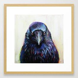 Crow Portrait Framed Art Print