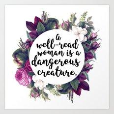 A well read woman Art Print